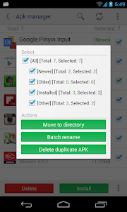 screenshot of APK File Manager version 3.1.107