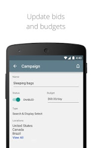 screenshot of AdWords version 1.2.3