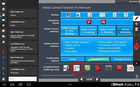 screenshot of Adobe Connect version 2.6.9
