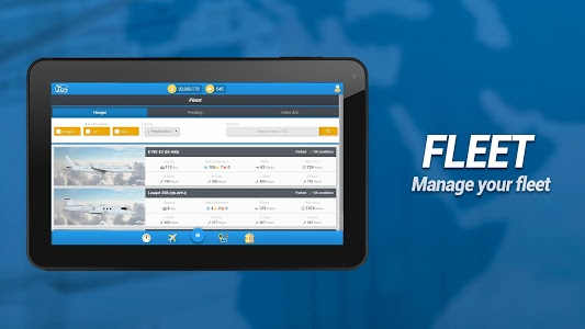 screenshot of Airline Manager 3 version 1.0.9