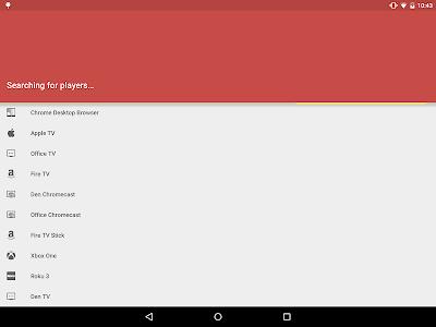 screenshot of AllCast version 2.0.5.0