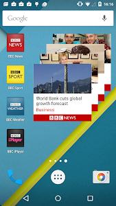screenshot of BBC News version 3.7.1.9 GNL