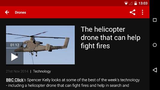screenshot of BBC News version 3.2.0.33 GNL