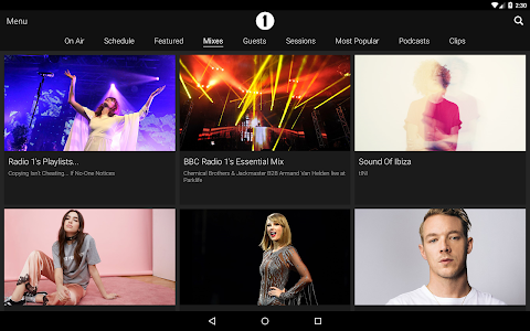 screenshot of BBC iPlayer Radio version 2.15.2.10976