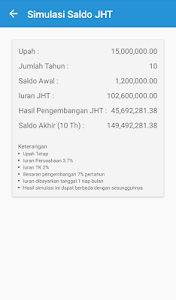 screenshot of BPJSTK Mobile version 3.0.6
