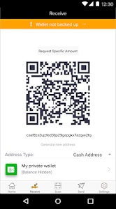 screenshot of Bitcoin Wallet version 5.0.3