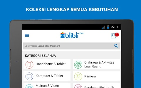 screenshot of Blibli.com Belanja Online version 3.5.5