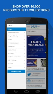 screenshot of Blibli App for Android version 2.0.1
