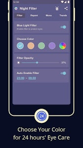 screenshot of Blue Light Filter – Screen Dimmer for Eye Care version 3.2.2.5