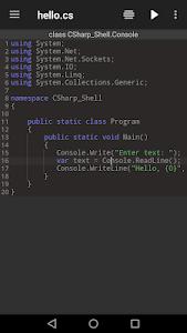 Download C# Shell (C# Offline Compiler) 1.8.2.3 APK