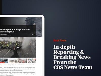 screenshot of CBS News - Live Breaking News version 4.0.2