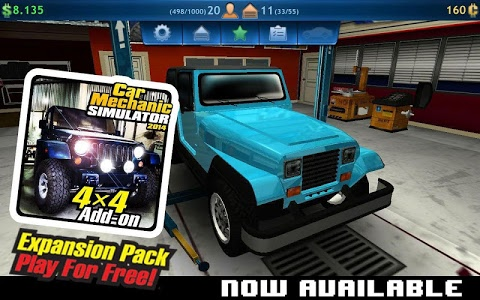 screenshot of Car Mechanic Simulator version 1.5.2