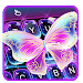 Download Colorful Glitter Neon Butterfly Keyboard Theme 6.8.17.2018 APK
