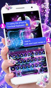 Download Colorful Glitter Neon Butterfly Keyboard Theme 6.8.17.2018 APK