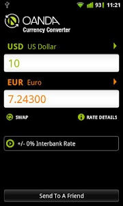 screenshot of Currency Converter version 1.3.0