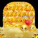 Cute Face Emoji Keyboard Theme
