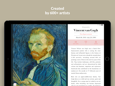 screenshot of DailyArt - Your Daily Dose of Art History version 2.0.4
