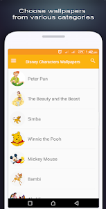 screenshot of Disney Characters Wallpapers version 0.0.1