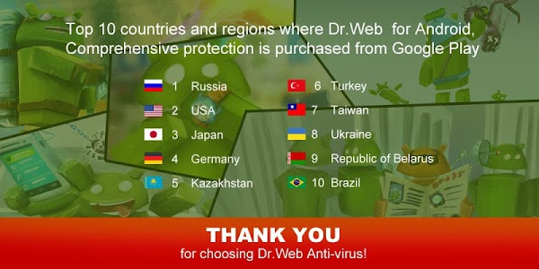 screenshot of Anti-virus Dr.Web v.9 Premium version Varies with device