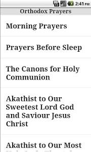 screenshot of English Orthodox Prayer Book (free) version 1.20
