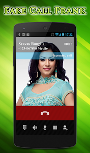 screenshot of Fake Call version 2.0