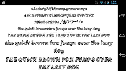 screenshot of Fonts for FlipFont 50 Pencil version 3.23.0
