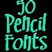 Download Fonts for FlipFont 50 Pencil 3.23.0 APK
