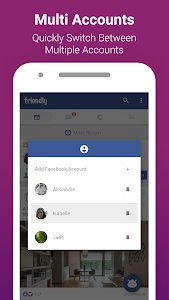 screenshot of Friendly for Facebook version 1.2.12