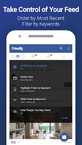 screenshot of Friendly for Facebook version 1.2.19