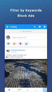 screenshot of Friendly for Facebook version 3.1.07