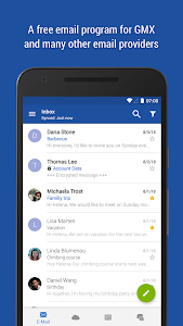 screenshot of GMX Mail version Varies with device