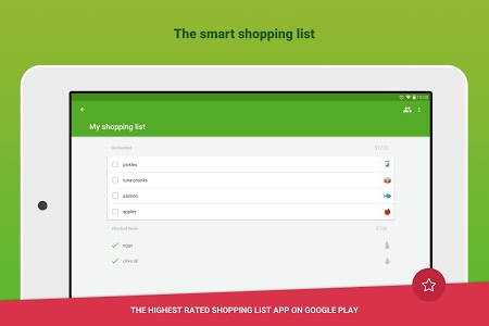 screenshot of Grocery Shopping List - Listonic version 6.17.5