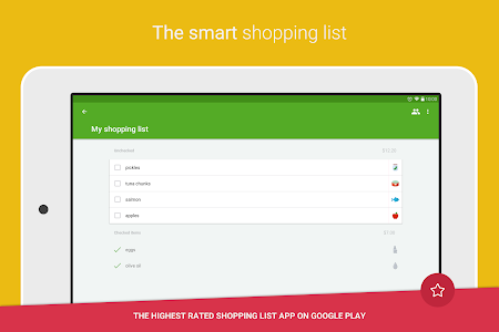 screenshot of Grocery Shopping List - Listonic version 6.11.1