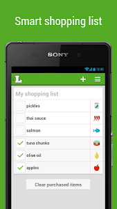 screenshot of Grocery Shopping List Listonic version Varies with device