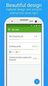 screenshot of Smart Shopping List - Listonic version 5.13.2