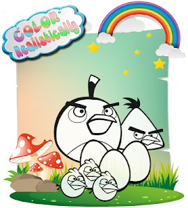 Download How To color Angry birds kids coloring game 1.1 APK