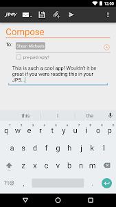 screenshot of JPay version 18.11