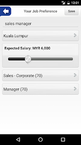 screenshot of JobStreet version 3.8.15
