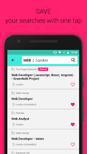 screenshot of Job Search – Jobrapido version 3.8.1