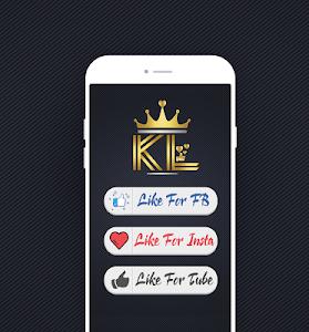 screenshot of King Social Auto Liker version 1.1
