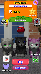 screenshot of Kitty Cat - Virtual Pet cat, happy Christmas version 2.0.5