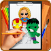 Download Learn How to Draw Chibi Super Heroes 1.2.1 APK