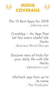 screenshot of Life Hacks version 4.1.16
