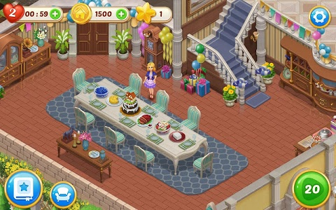 screenshot of Matchington Mansion: Match-3 Home Decor Adventure version 1.21.1