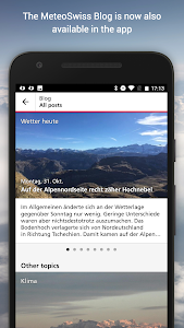 screenshot of MeteoSwiss version Varies with device