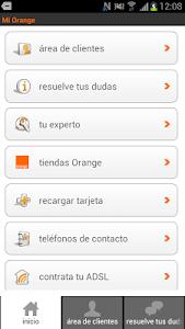 screenshot of Mi Orange version 3.0.3