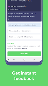 screenshot of Mimo: Learn to Code version 1.3.0