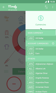 screenshot of Monefy - Money Manager version 1.9.0