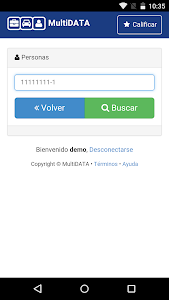 screenshot of MultiDATA Chile version 2.8.4