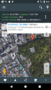 screenshot of My Location: GPS Maps, Share & Save Locations version Varies with device